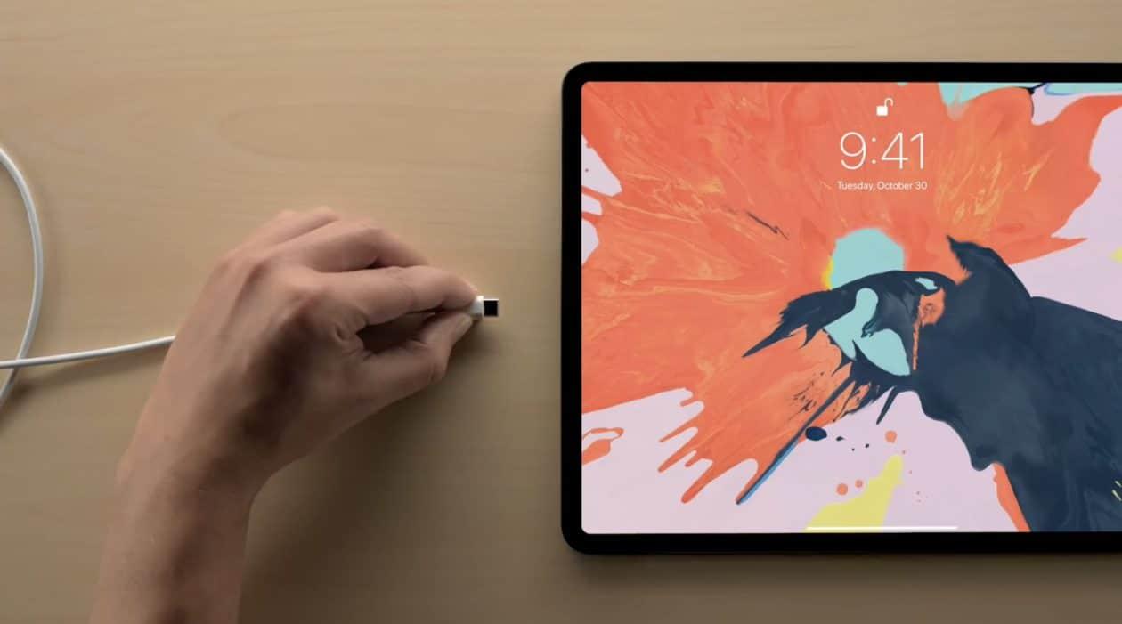 Porta USB-C do iPad Pro