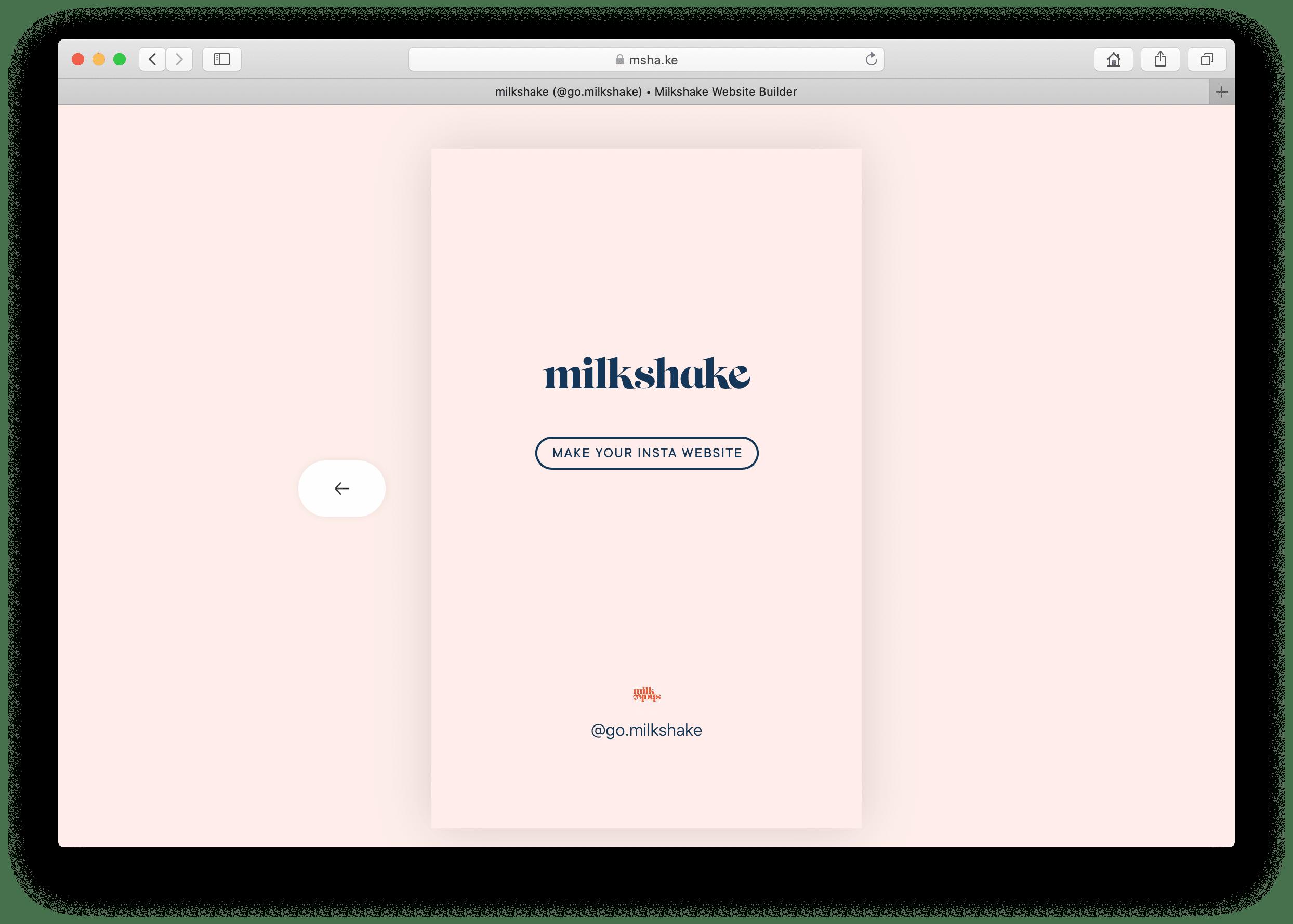 Página Milkshake