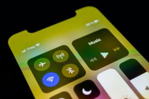 Wi-Fi na Central de Controle de iPhone