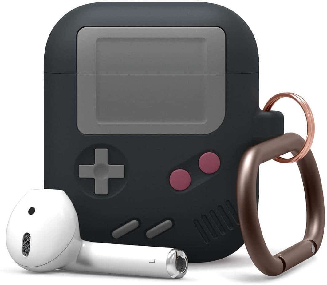 Case AW5 da Elago para AirPods com visual do GameBoy