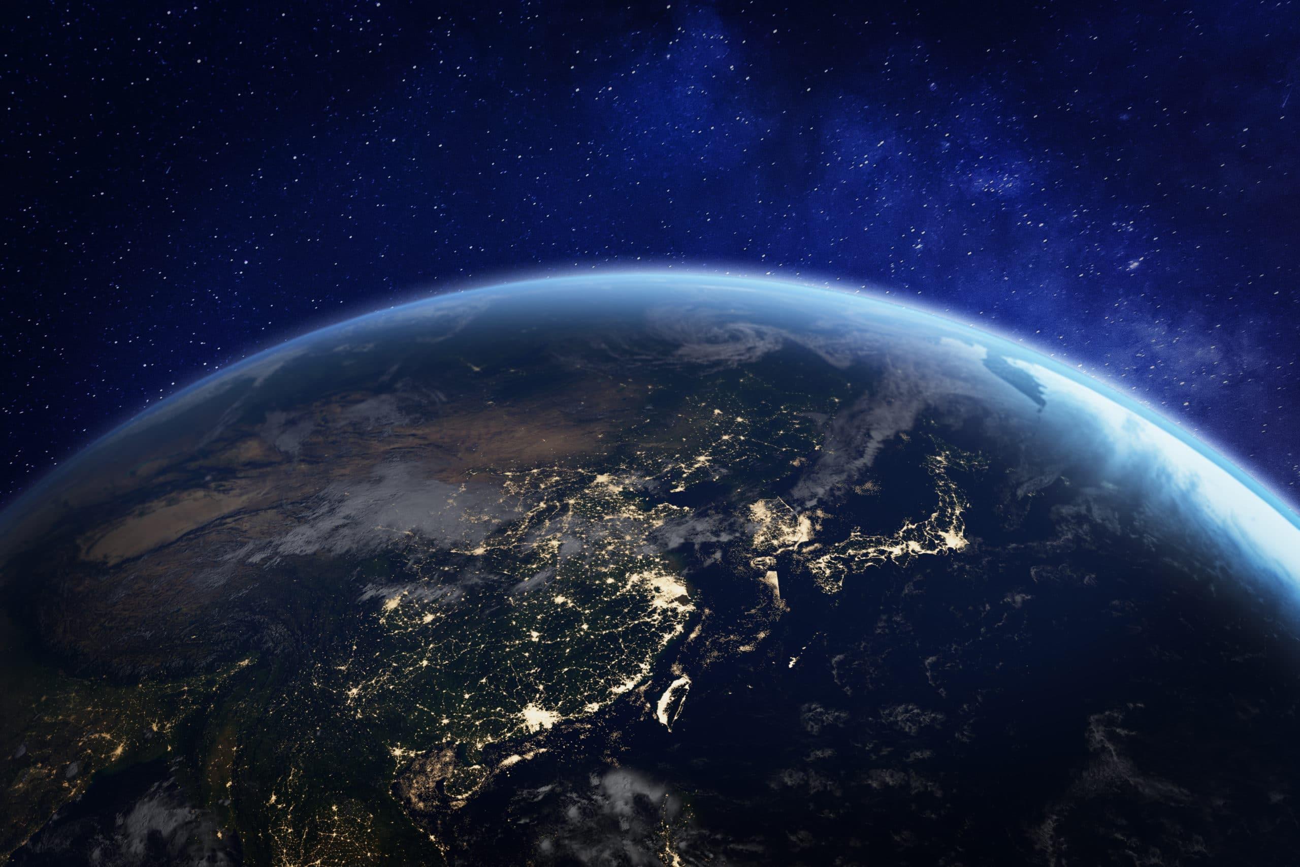 Planeta Terra (globo) visto do espaço