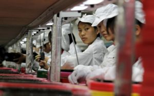 Trabalhadores da Foxconn na China