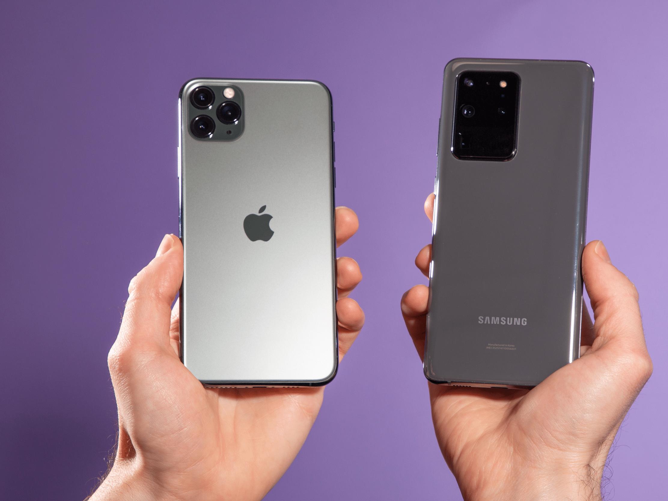 iPhone 11 Pro e Galaxy S20 Ultra