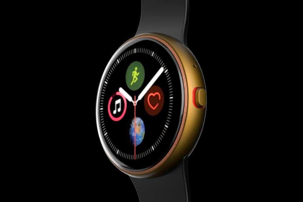 Conceito de Apple Watch circular