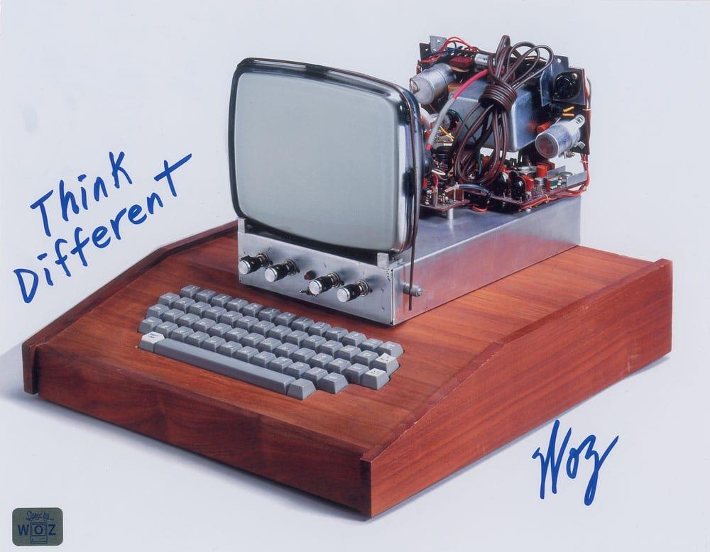 Leilão: pôster assinado por Steve Wozniak