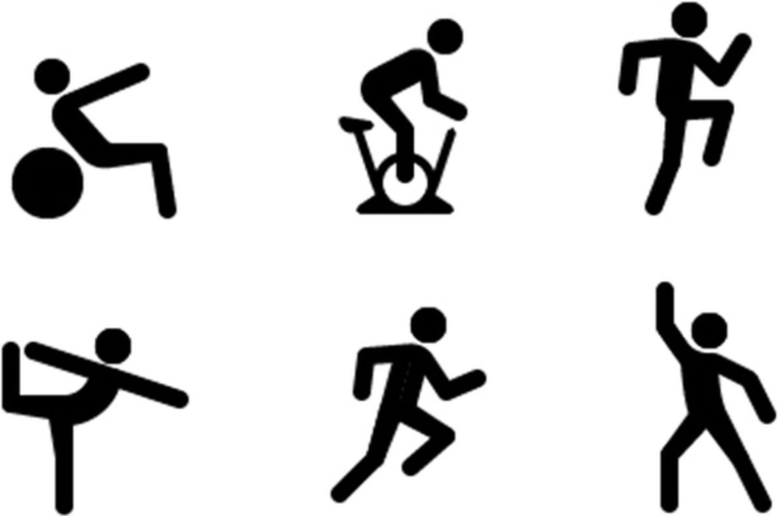 Ícones de exercícios no iOS 14