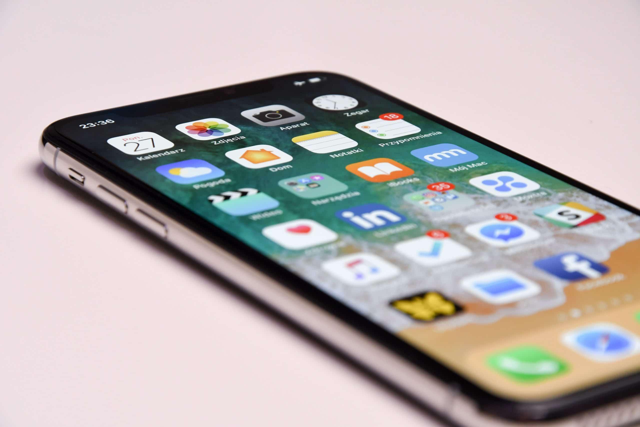 Tela de início do iPhone