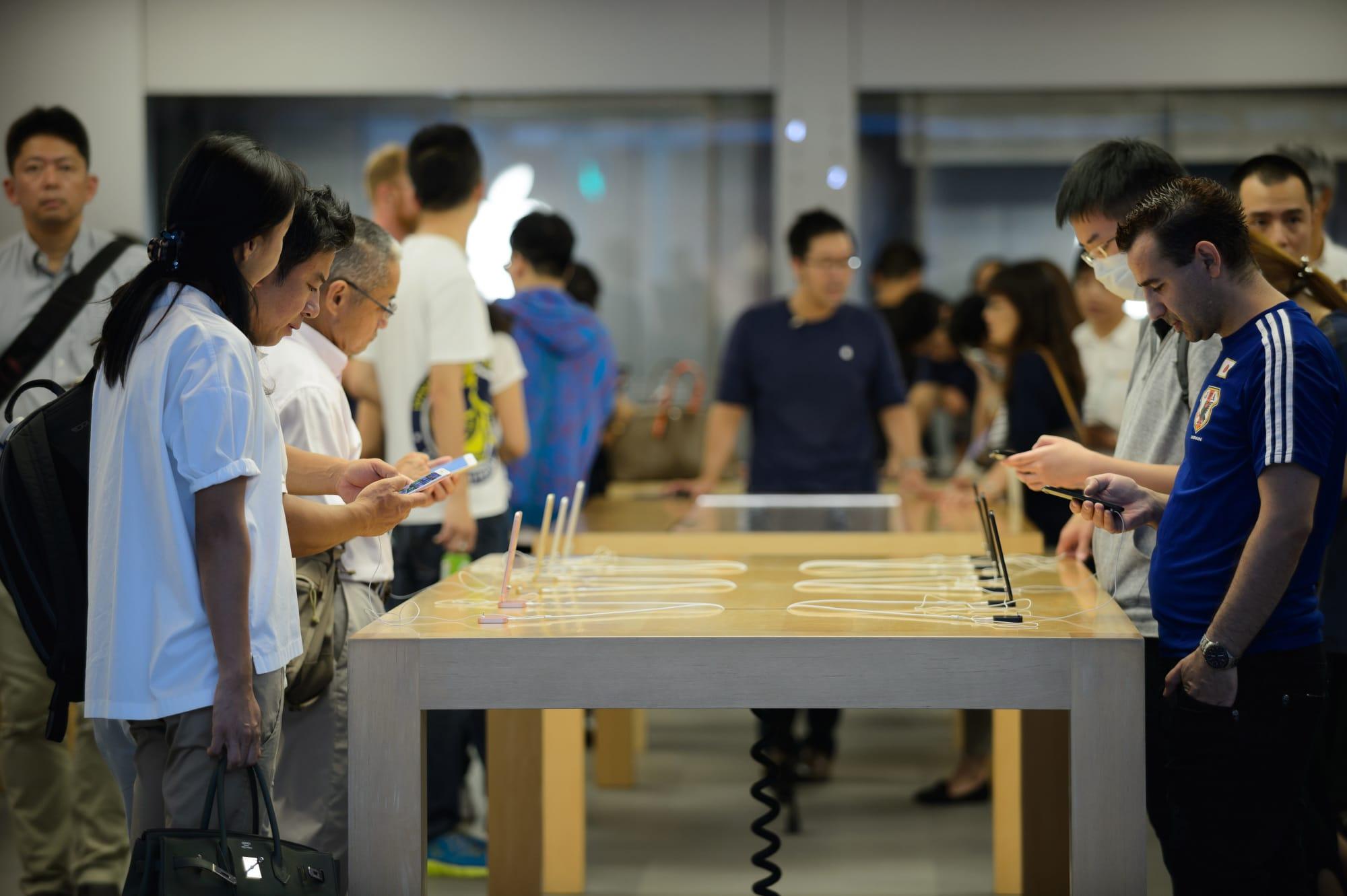 Clientes em Apple Store
