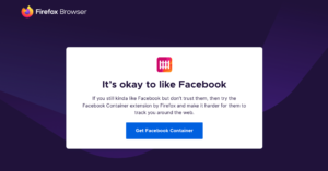 Firefox 74 com Facebook Container