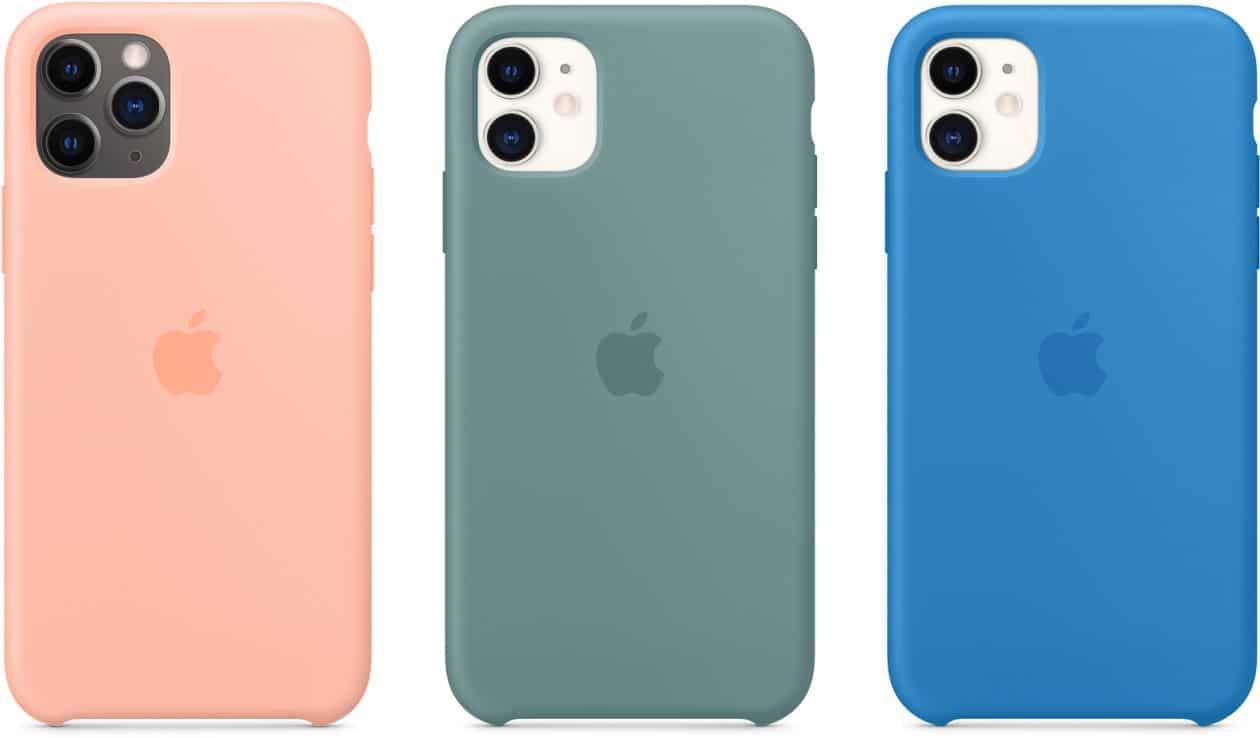 Novas cores de cases de silicone