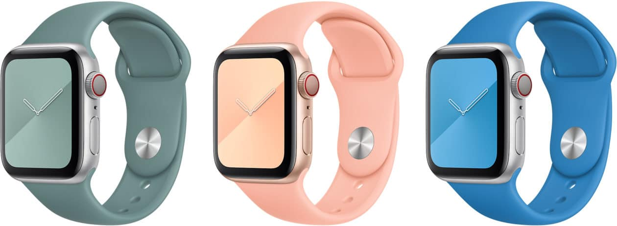 Novas cores de pulseiras do Apple Watch