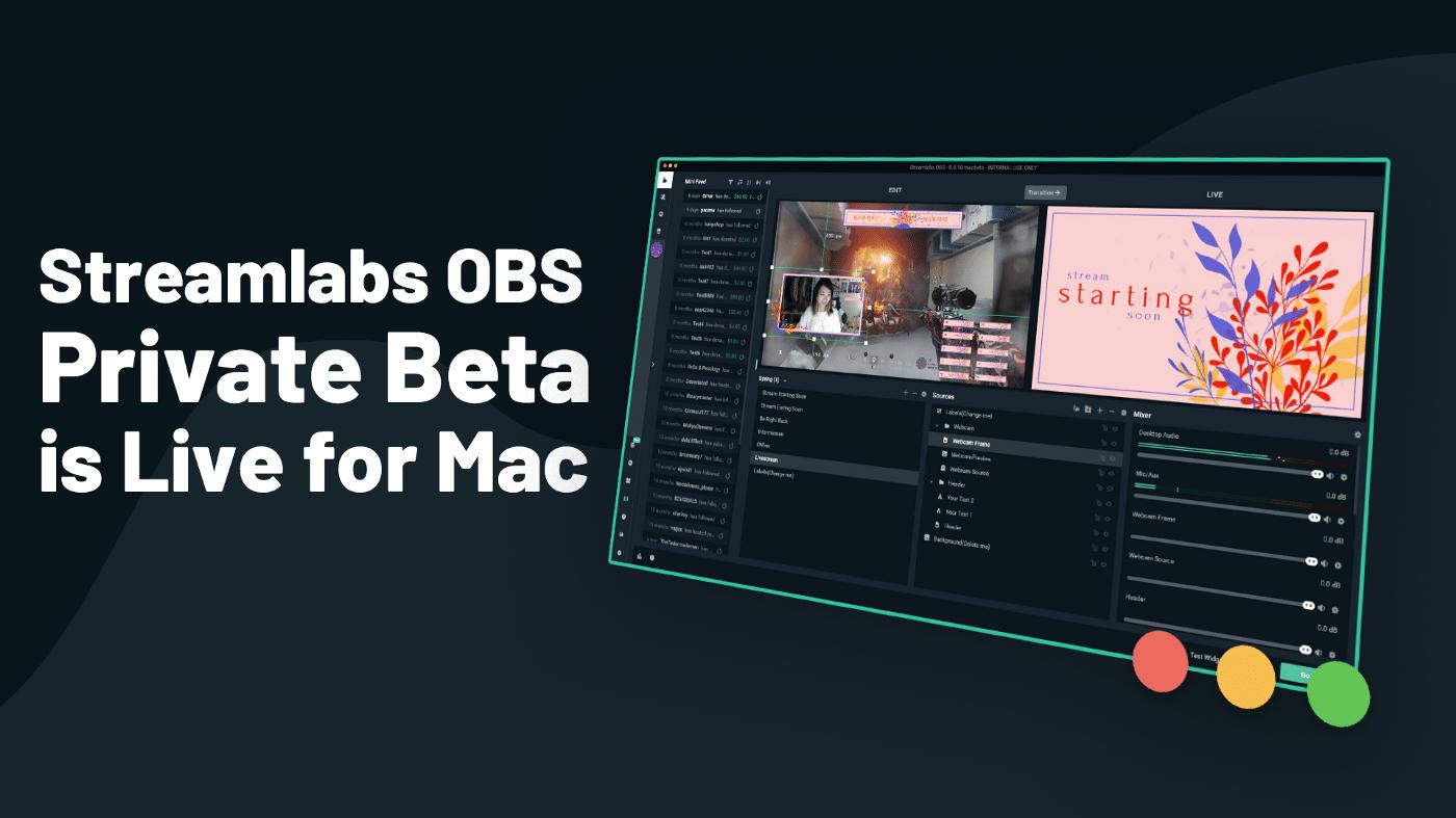 Streamlabs para Mac