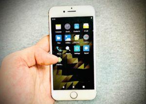 Android rodando num iPhone 7