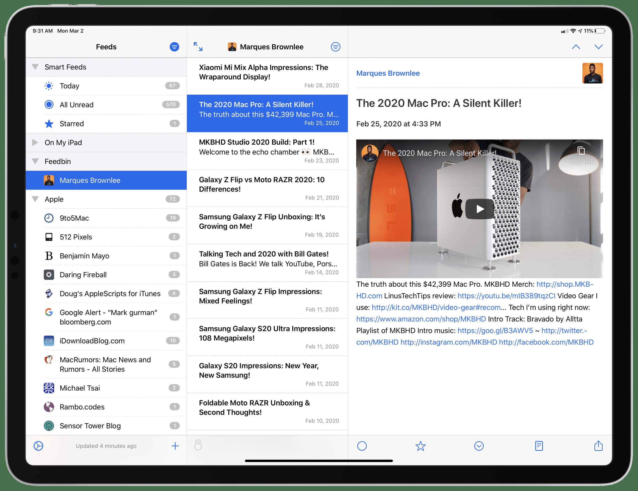 NetNewsWire para iOS
