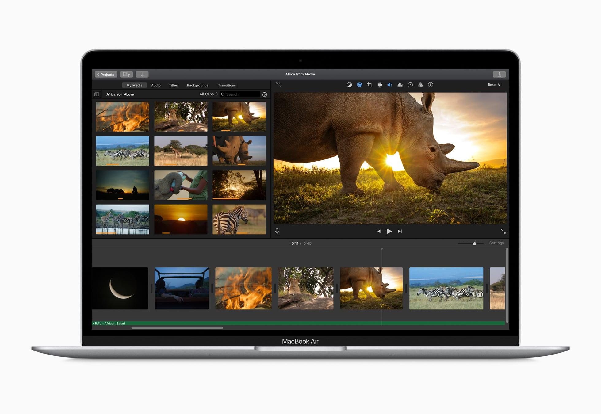 Performance do novo MacBook Air