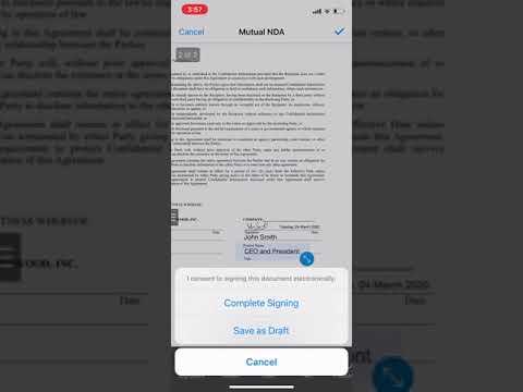 SignEasy é o primeiro app que permite assinar documentos digitalmente com o Face ID