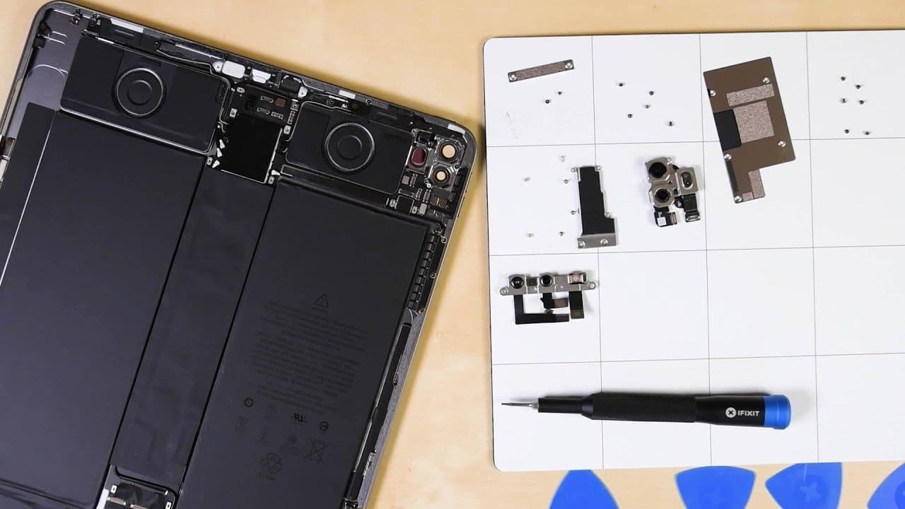 iPad Pro desmontado pela iFixit