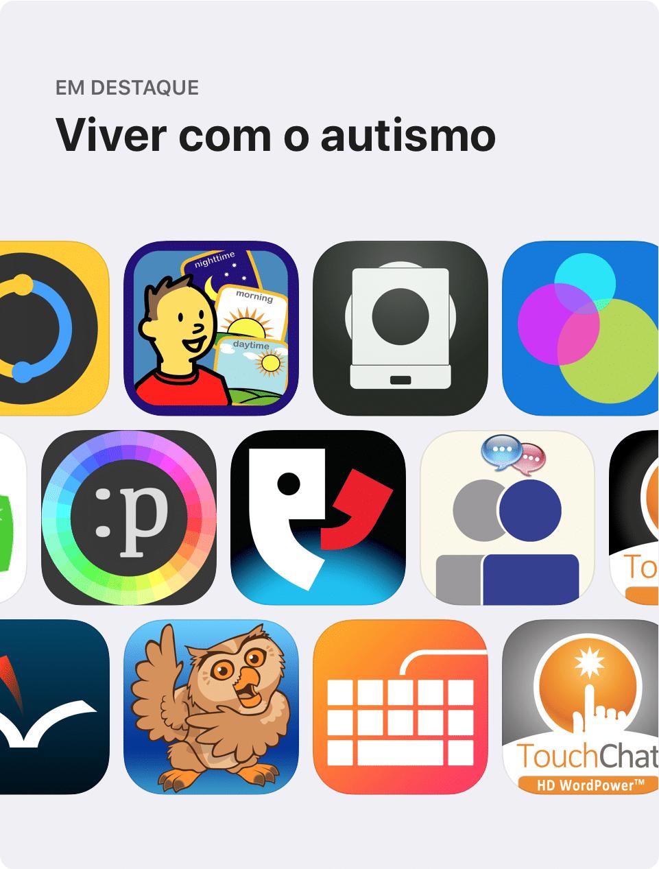 Página especial sobre autismo na App Store