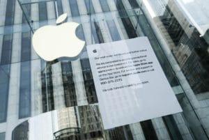 Anúncio na Apple Fifth Avenue