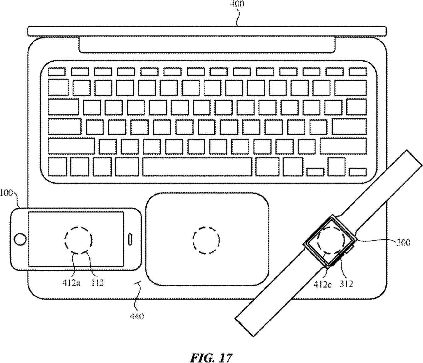 Patente de carregamento sem fio da Apple