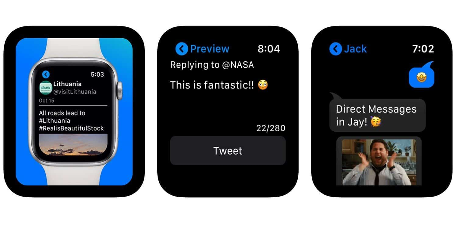 Jay, cliente do Twitter para Apple Watch