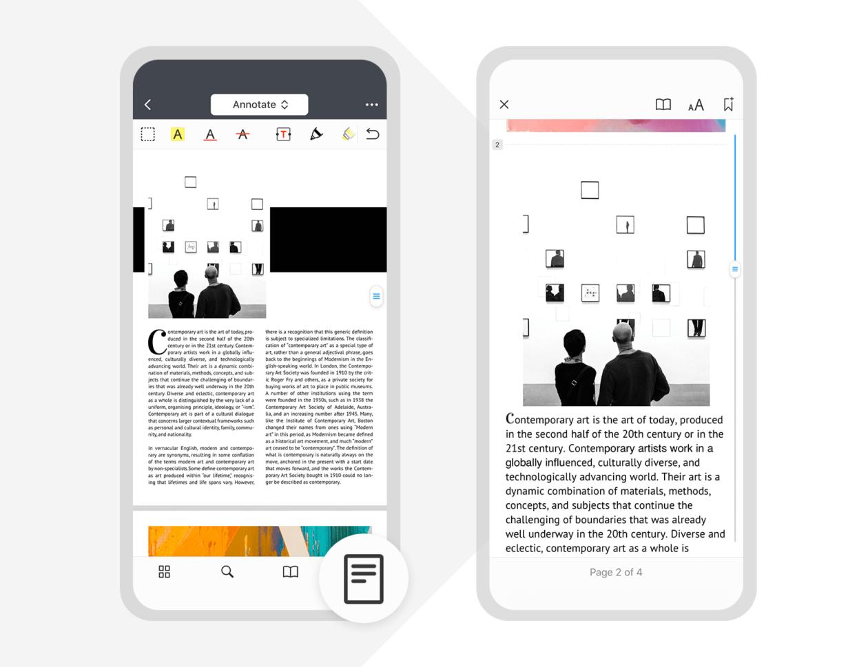 Modo de Leitura do PDF Expert