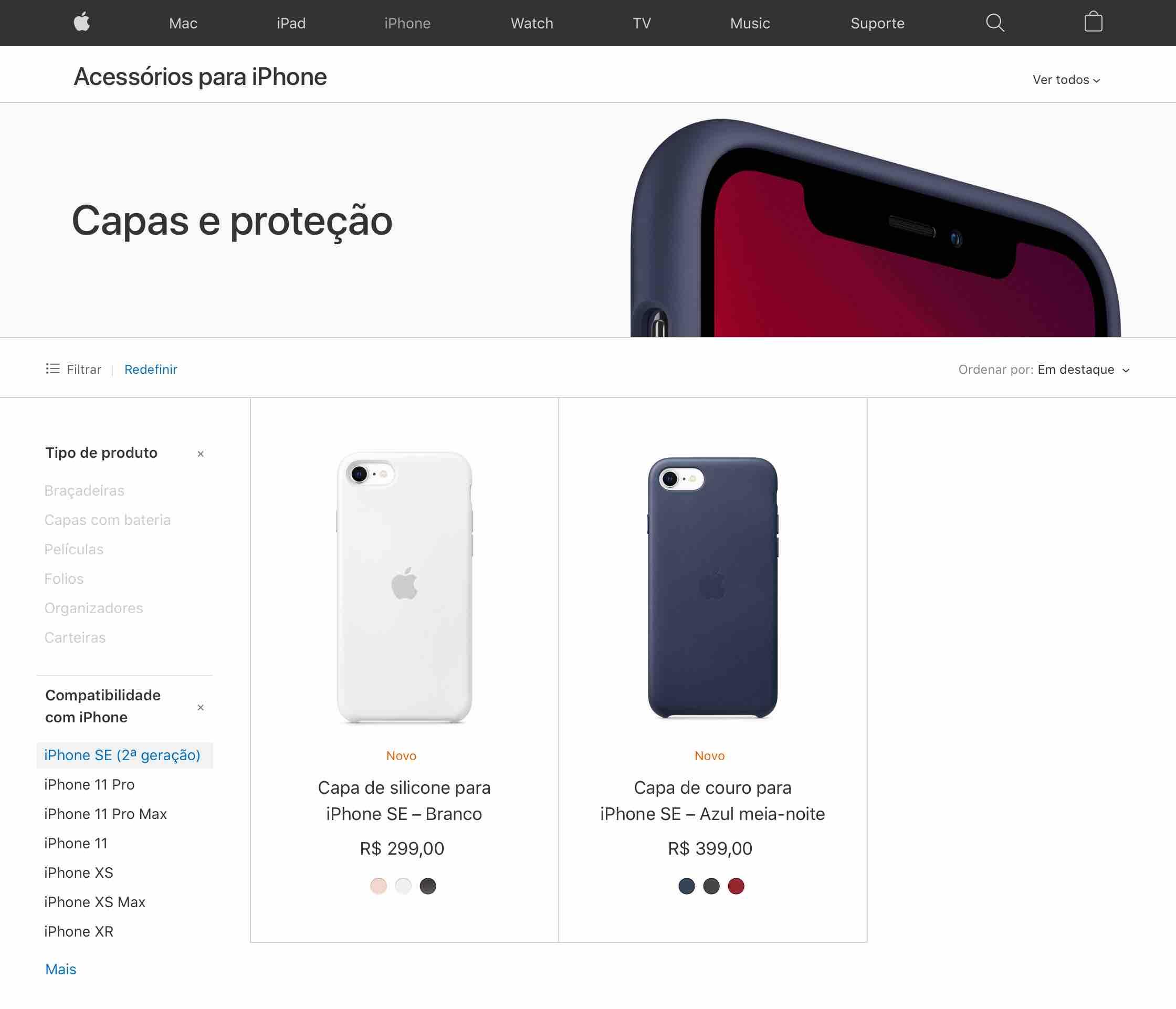 Cases para o iPhone SE