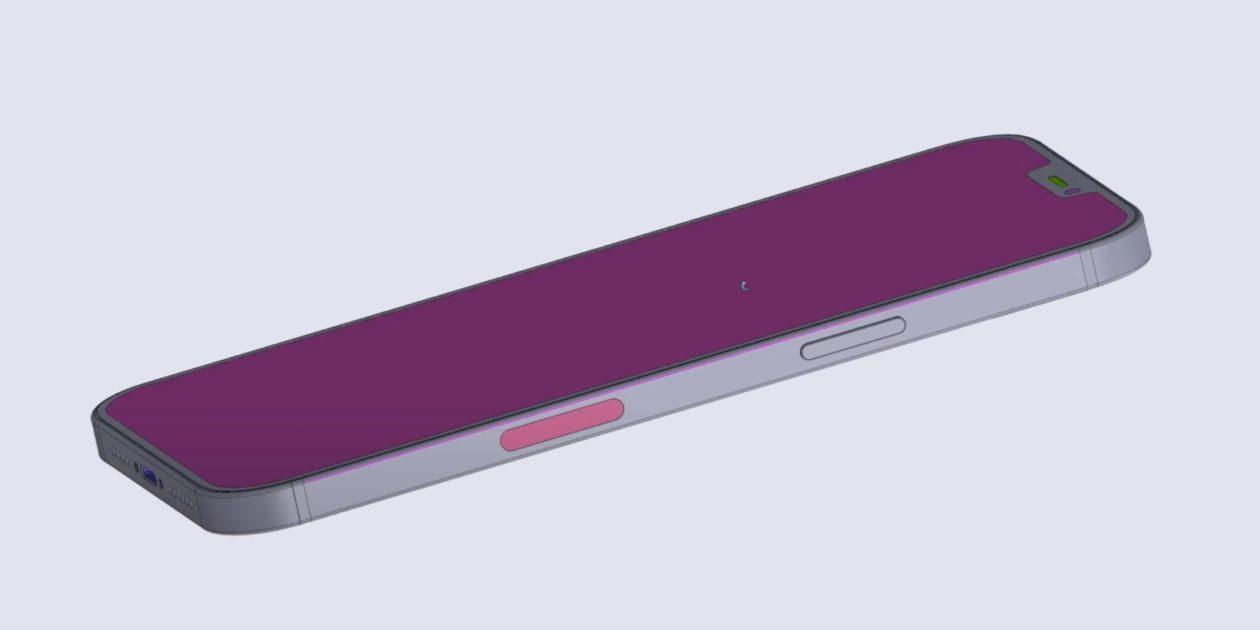 Esquema técnico com Smart Connector no iPhone 12 Pro Max