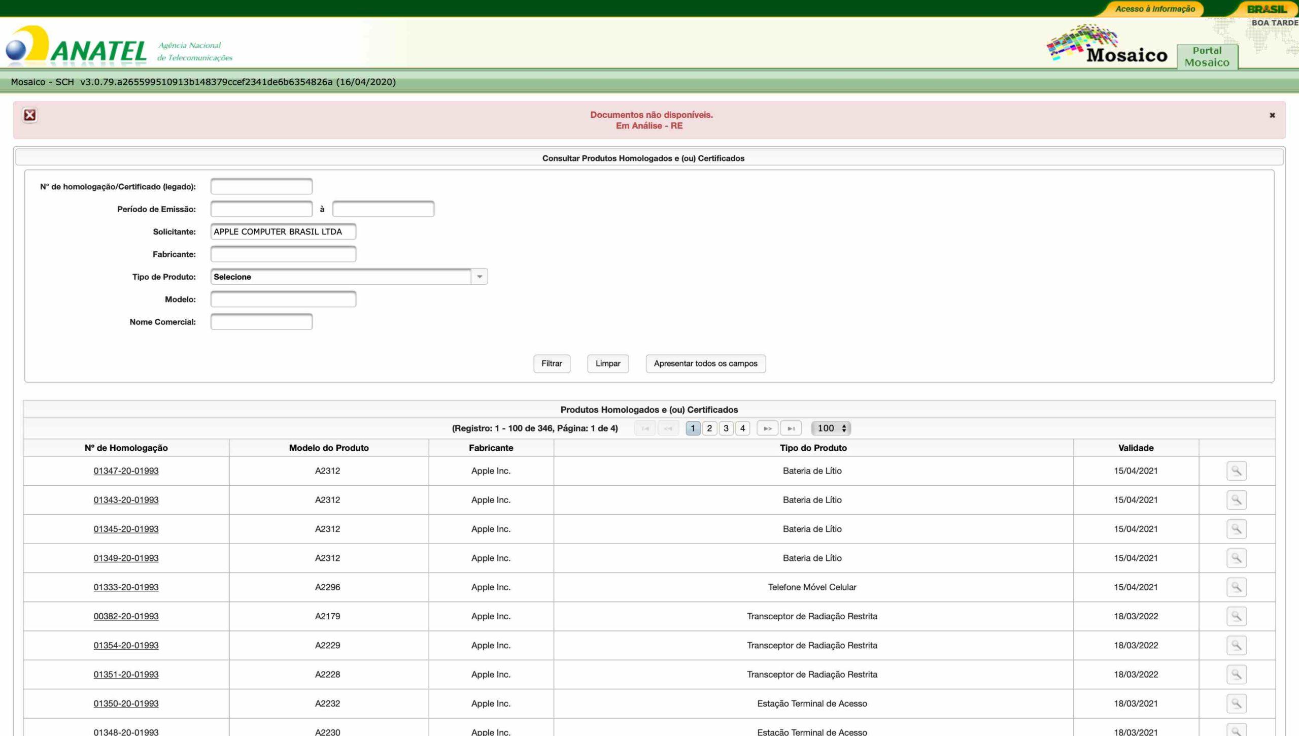 Documentos do iPhone 11 indisponíveis na Anatel
