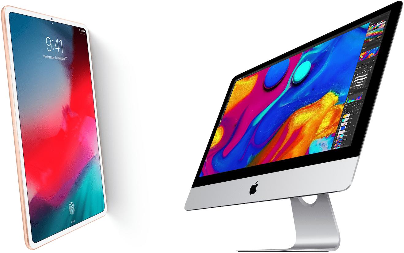 "iPad de 11"" e iMac de 23"""