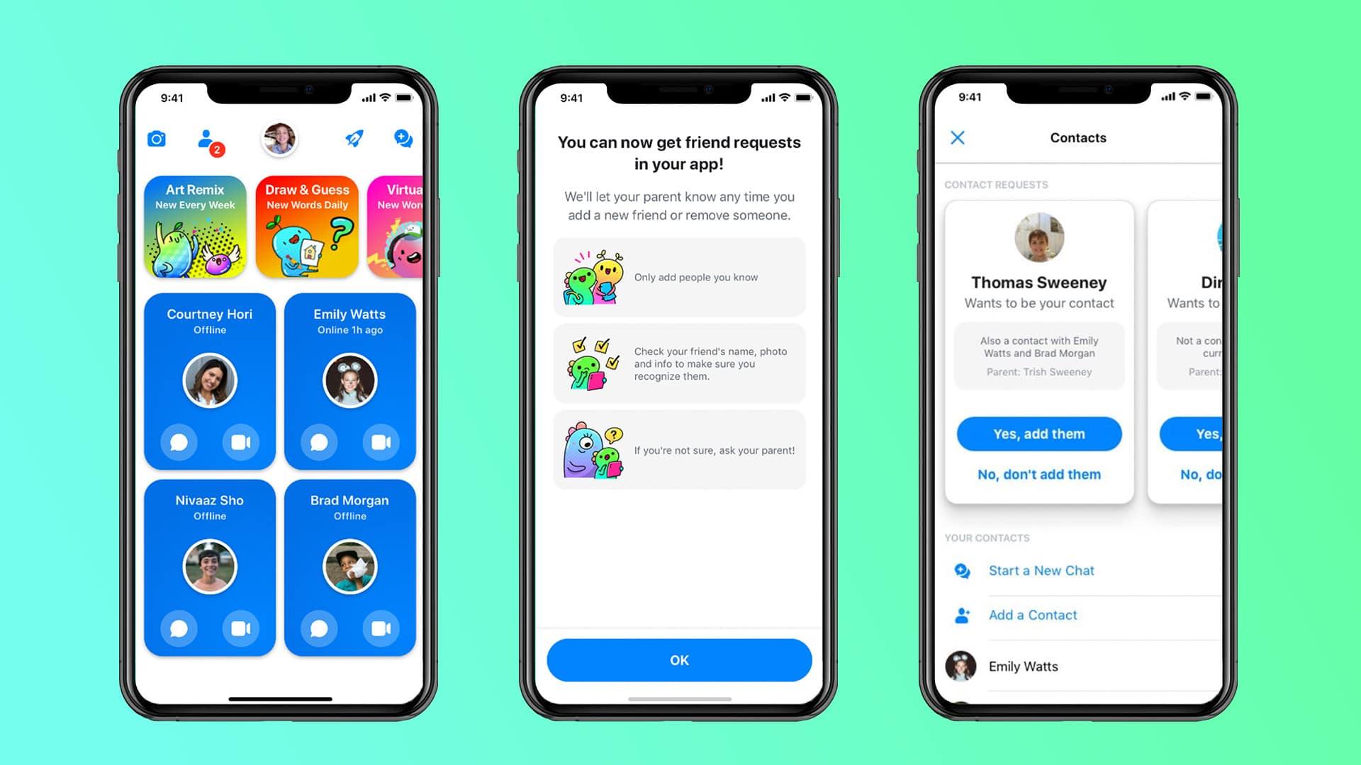 Messenger Kids no iPhone