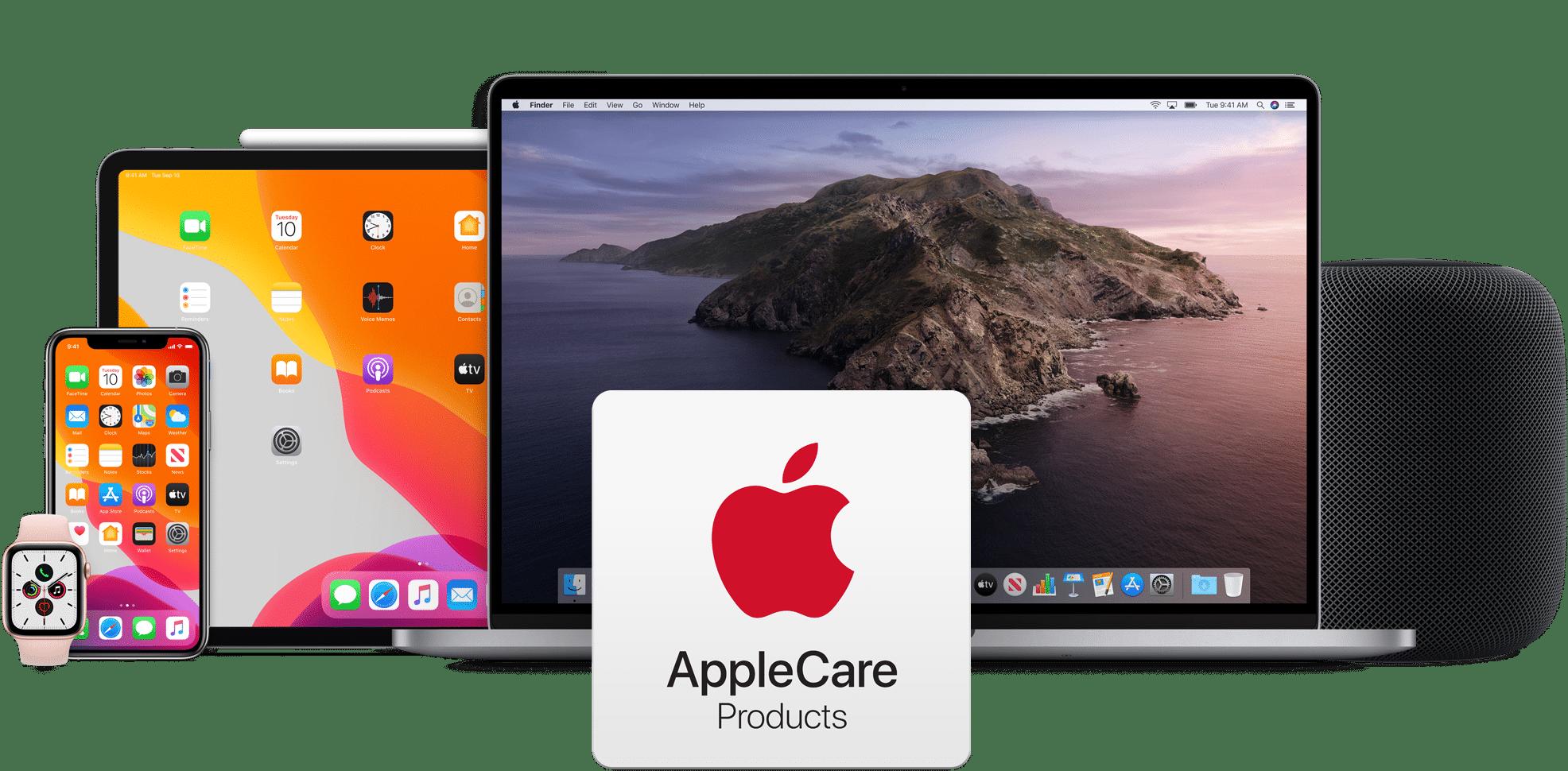Linha de produtos Apple cobertos pelo AppleCare+