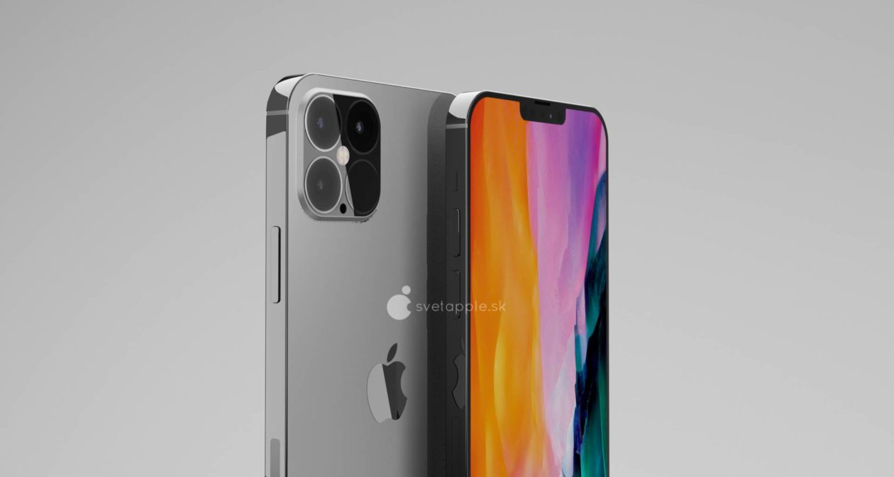 "Render da família do ""iPhone 12"""