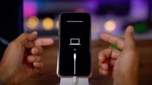 iPhone em modo de recuperação