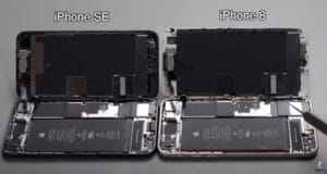 Interior do iPhone 8 e do novo SE