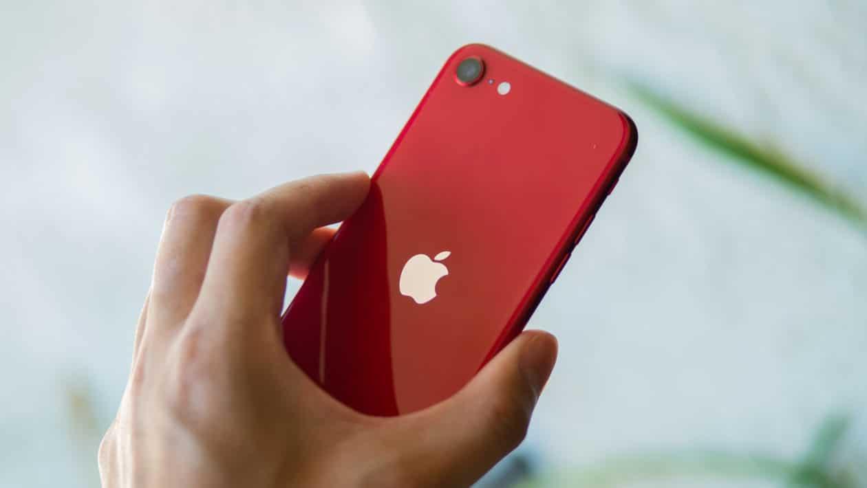 Parte traseira do novo iPhone SE