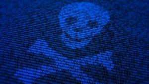 Ilustração de invasão digital