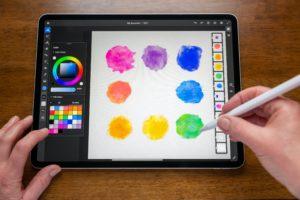 Adobe Fresco num iPad Pro