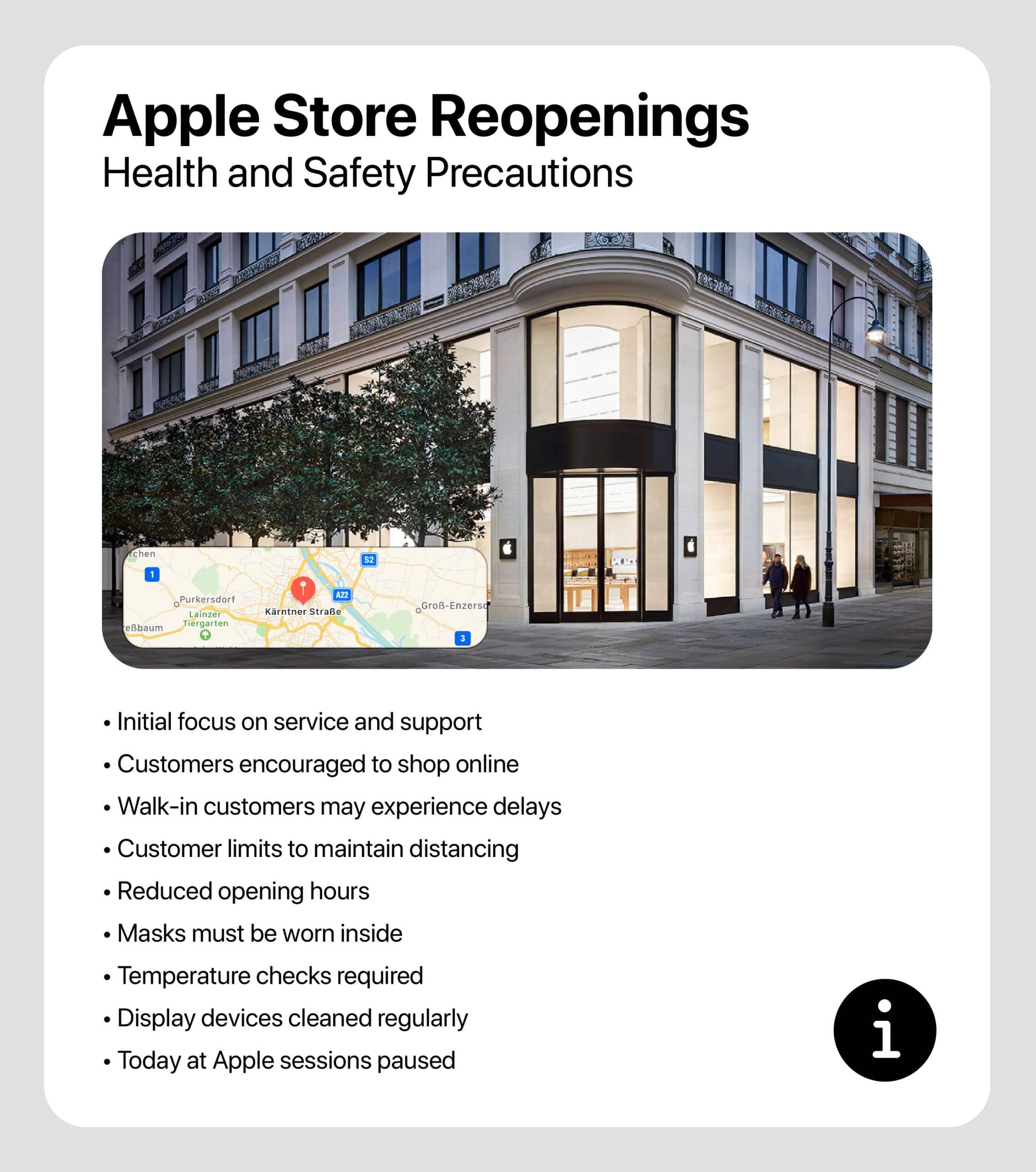 Reabertura da loja da Apple na Áustria