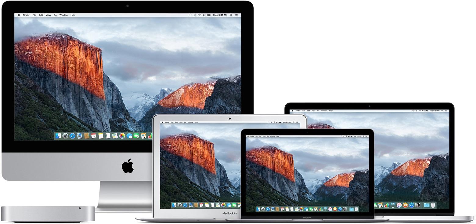Macs rodando o OS X El Capitan