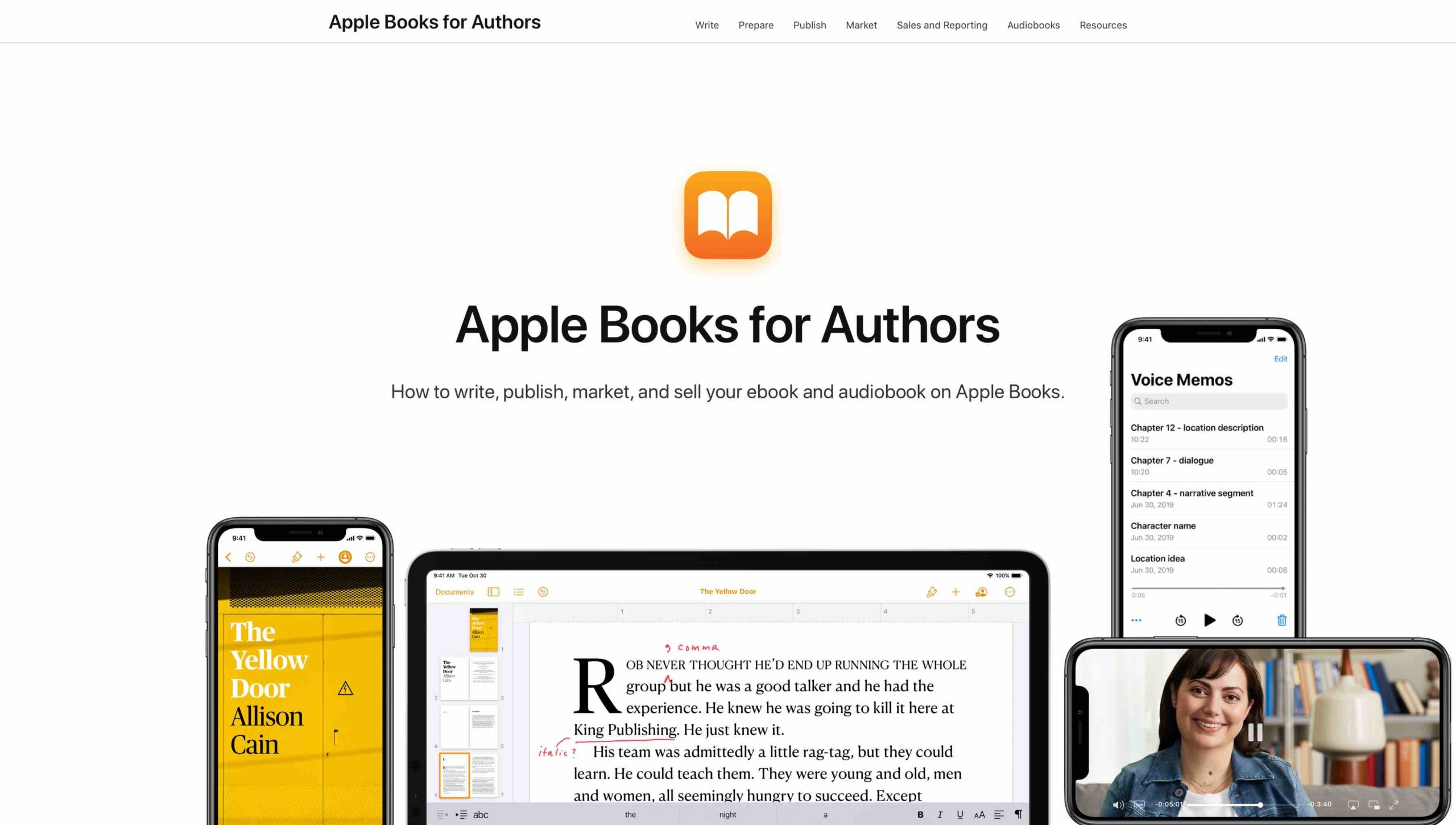 Página Apple Books for Authors