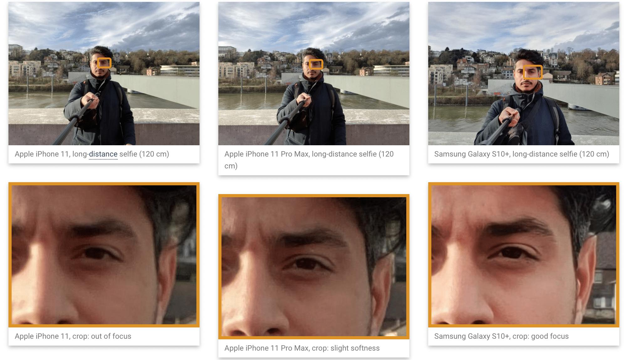 Testes de câmera frontal