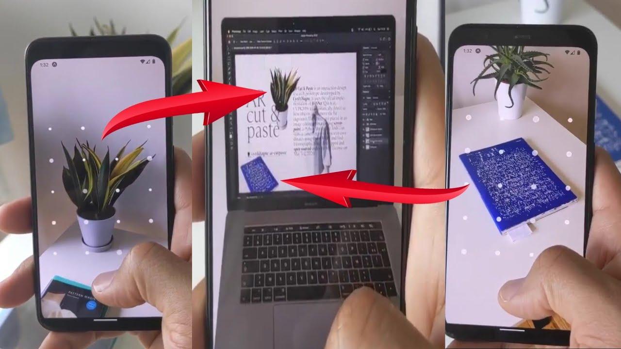 AR Copy Paste, aplicativo de realidade aumentada para capturar objetos do mundo real e colar no computador