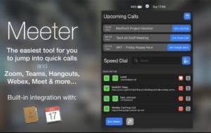 Utilitário Meeter para macOS