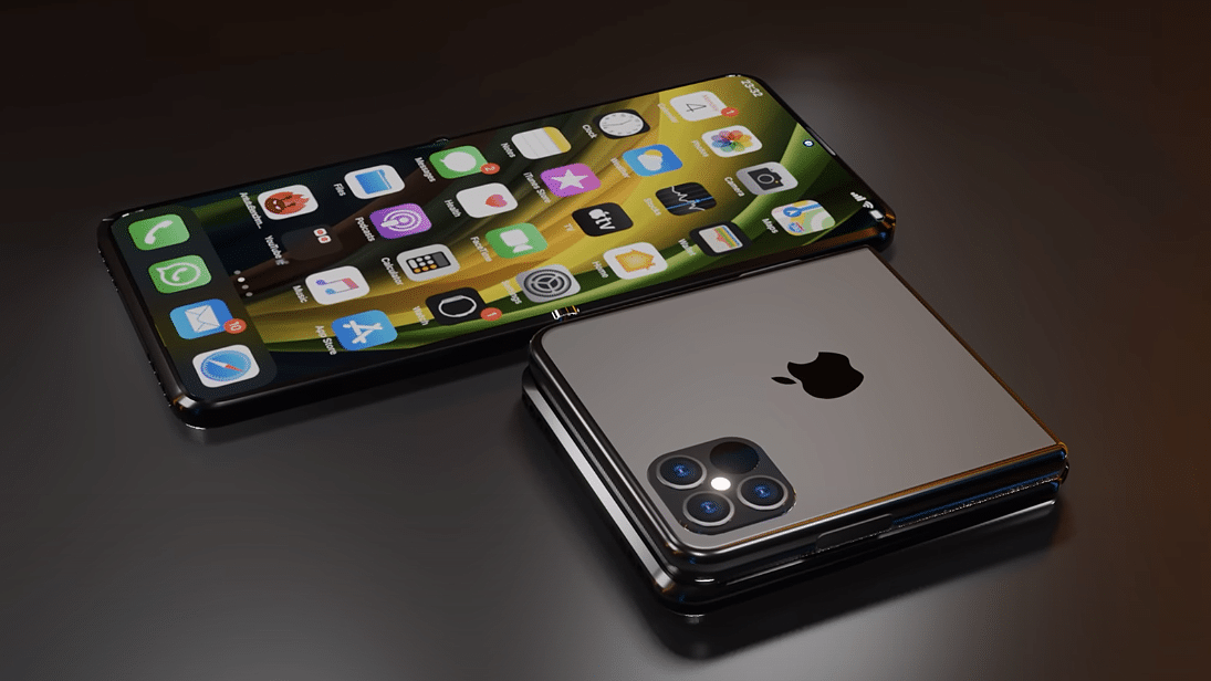 """Conceito de """"iPhone 12 Flip"""""""