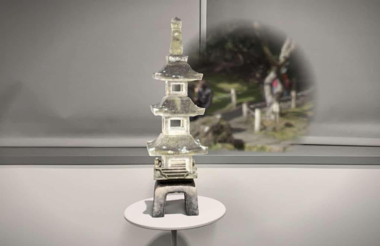 "Modelo 3D de pagode (templo) encontrado dentro do app ""Gobi"""