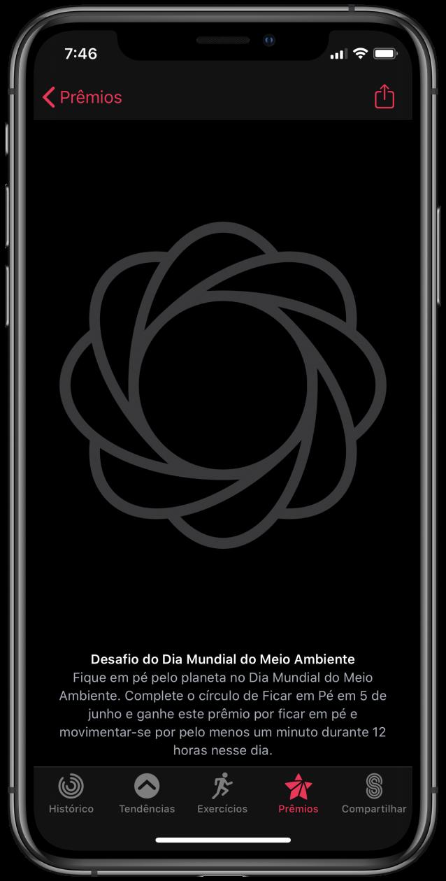 Desafio do Dia Mundial do Meio Ambiente no iPhone