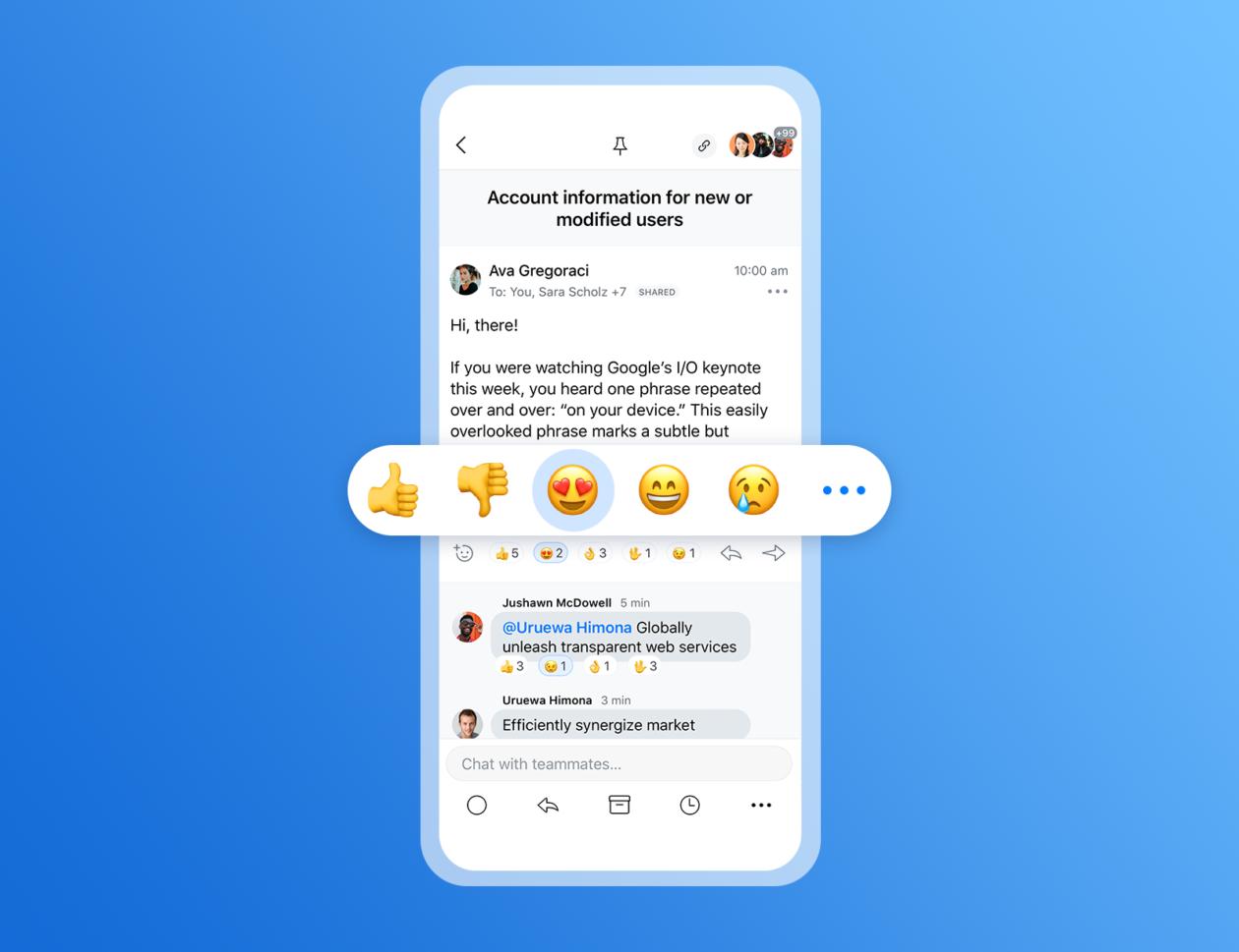 Reações de emojis no Spark