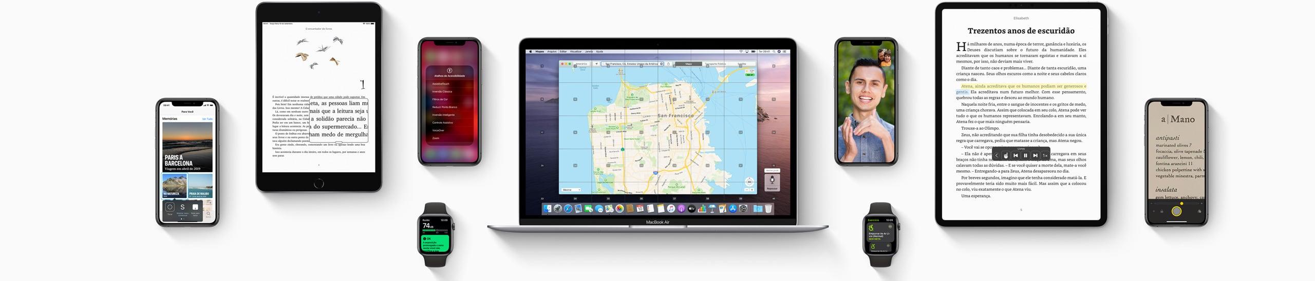 Banner do Apple.com sobre acessibilidade