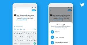 Nova configuração de respostas do Twitter